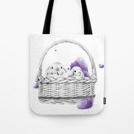 Basket Bunnies Tote Bag