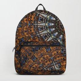 Vintage Wood Bohemian Mandala Backpack