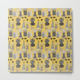 Vases and Stripes Metal Print