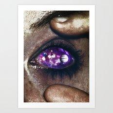 Ojos color galaxia Art Print