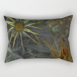 Abstract Flowers on my way - Flores abstractas en mi camino Rectangular Pillow