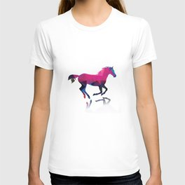 Geometric horse T-shirt