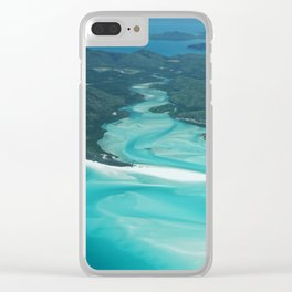 Whitsunday from high above Clear iPhone Case