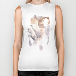 Watercolor Texture Movement | [Grief] Haze Biker Tank