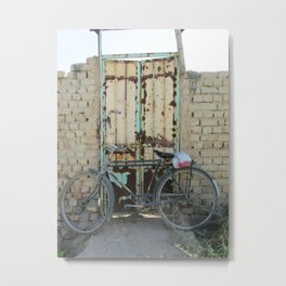 old bike / old door Metal Print