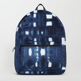 Shibori City Blue Backpack