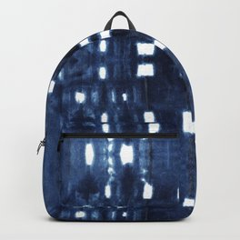 Shibori City Blue Backpack