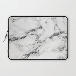 Greyish White Marble Laptop Sleeve