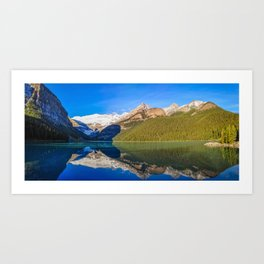 Lake Louise panorama, Canada. Art Print