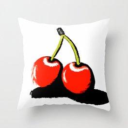 red cherries Throw Pillow