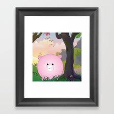 Cartoon pig Framed Art Print