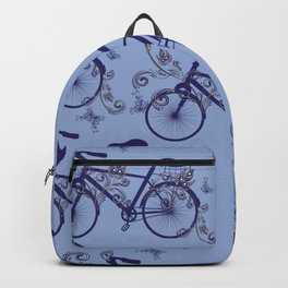 Bicycle and Floral Ornament Backpack