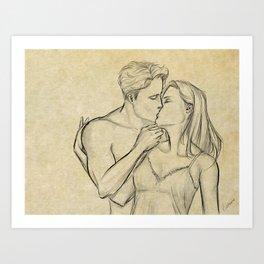 valentine kiss #6 Art Print