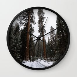 Entering the Giant Forest Wall Clock