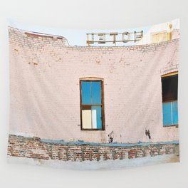 Route 66,Urban Decay, Fine Art Photography, Abandoned Building, Vintage Hotel,Americana Wall Tapestry