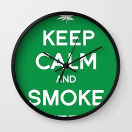 Keep Calm and Smoke Weed Wall Clock