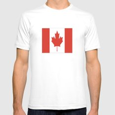 Flag of Canada MEDIUM Mens Fitted Tee White