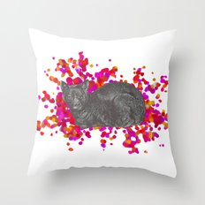 Cat's Meow Throw Pillow