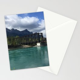 Bow River Engine Bridge - Canmore, Canada  Stationery Cards