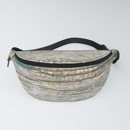 Rustic Wood Ages Gracefully - Beautiful Weathered Wooden Plank - knotty wood weathered turquoise pa Fanny Pack
