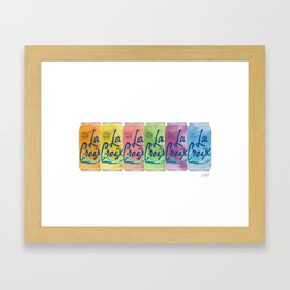 La Croix Illustration Framed Art Print