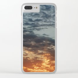 Fiery Sky #3 Clear iPhone Case
