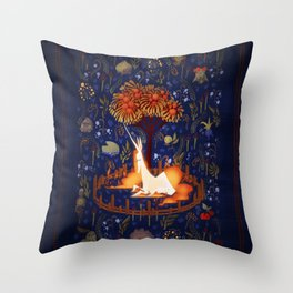 The Captive Rapidash Throw Pillow