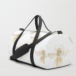 Gold Bee Pattern Duffle Bag