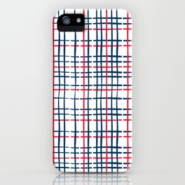 4th of July Skinny Gingham iPhone Case