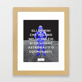 BOLO 1 cosmonauta Framed Art Print