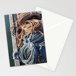 Fisherman's Ready - Maine Harbor Stationery Cards