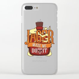 Jager Made Me Do It - Funny Alcohol St. Patricks Day Illustration Clear iPhone Case