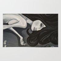 "boob Area & Throw Rugs featuring ""ef"" off girl (part 2) by Brogan Azriel"