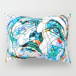 Glass stain mosaic 8 - Madonna, by Brian Vegas Pillow Sham