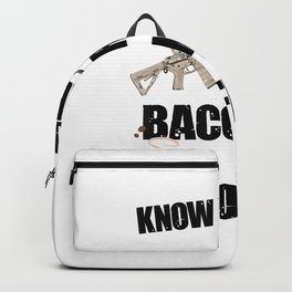 ABCs AR-15 Bacon Coffee, Funny Gun Owner Control Rights T-Shirt Backpack