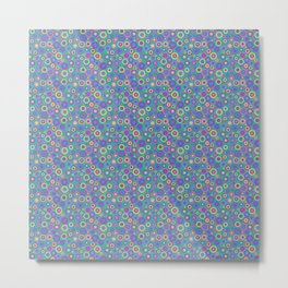 Concentric Circles pastels Metal Print