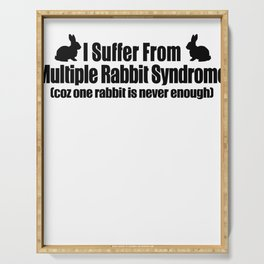 Multiple Rabbit Syndrome Serving Tray