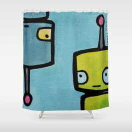 Robot - Recognizing You Through Time Shower Curtain