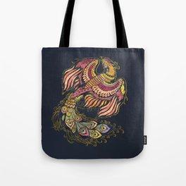Watercolor Phoenix bird Tote Bag