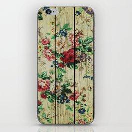 Flowers on Wood 01 iPhone Skin