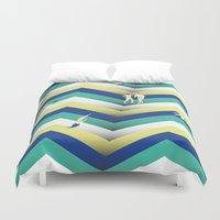 swim Duvet Covers featuring Swim by Salomé Milet