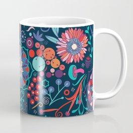 Ripe autumn – cyan and red Coffee Mug