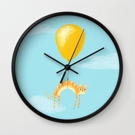 Balloon Cat Wall Clock