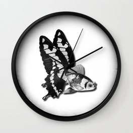 THE BUTTERFLY FISH - James Wall Clock