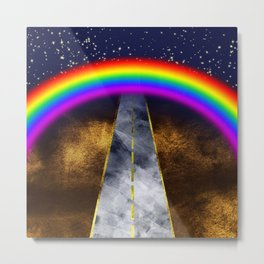 The path to happiness? Metal Print