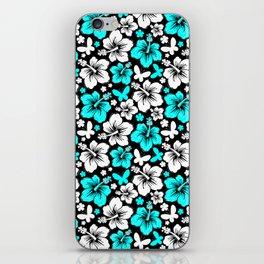 Hibiscus in Blue & White iPhone Skin