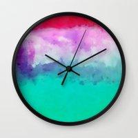 hawaiian Wall Clocks featuring Hawaiian Sunset by Pamela Kummerle