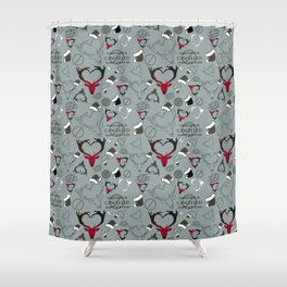 Christmas Is Cancelled - Happy New Year!! Shower Curtain