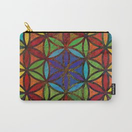 The Flower of Life (Sacred Geometry) 3 Carry-All Pouch