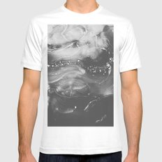 STRANGER MEDIUM White Mens Fitted Tee